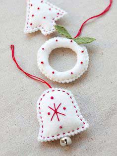 Felt Holiday Ornaments + Free Ornament Templates