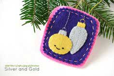 PROJECT: SILVER AND GOLD FELT ORNAMENT