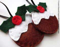 Felt Ornament How-To #3: Christmas Pudding