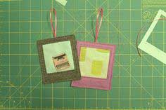 Handmade Holidays ~ Fussy-Cut Polaroid Ornaments