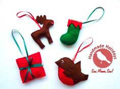 Handmade Holidays ~ Hand-Stitched Ornaments