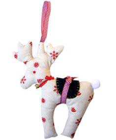 Free Reindeer, Gift Bag + Stocking Patterns with Video Tutorials