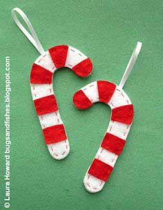 How To: Felt Candy Cane Ornaments