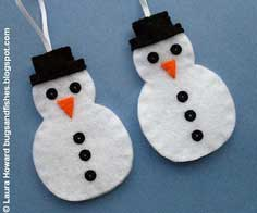How To: Felt Snowman Ornament