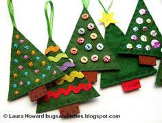 How To: Felt Christmas Tree Ornaments