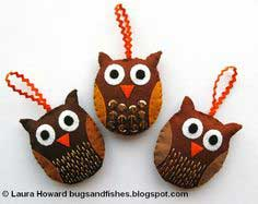 How To: Felt Owl Ornaments