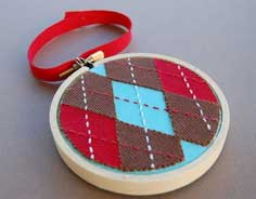 Argyle Applique Ornament Tutorial