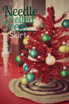 CRAFT: DIY Needle Felted Tree Skirt