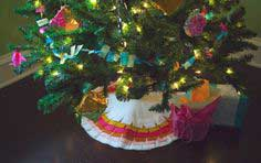 FELT FRINGE CHRISTMAS TREE SKIRT