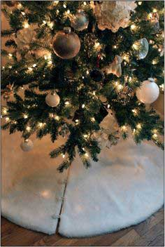 DIY FAUX FUR TREE SKIRT Pattern