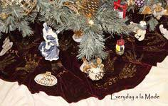 Handprint Christmas Tree Skirt