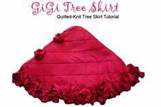 Quilted Knit Tree Skirt Tutorial