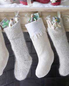 Christmas Stockings with Wool-Felt Icicles