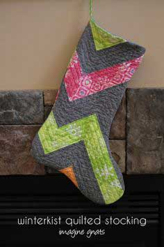sewing: quilted stocking