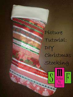 Picture Tutorial: DIY Christmas Stocking