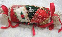 Crazy Quilt Christmas Gift Cracker/Ornament