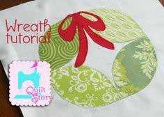 Wreath quilt block tutorial