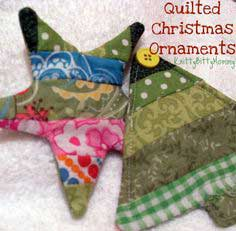 Quilted Christmas Ornament -- Tutorial!