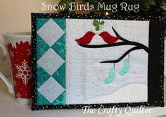 Snow Birds Mug Rug Tutorial
