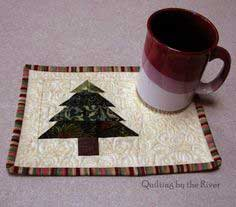 Christmas Tree Mug Rug Tutorial
