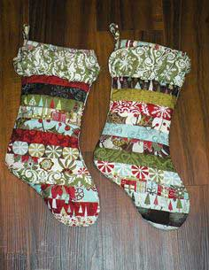 Quilted Ruffled Stockings