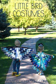 2013 halloween costumes- a peacock and an eagle