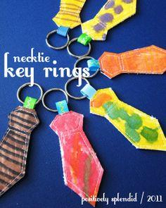 Necktie Key Ring Tutorial
