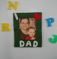 It's Almost Father's Day--Felt Photo Frame Fridge Magnet Tutorial