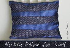 Necktie Pillow for Dad Tutorial