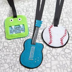 Funky Felt Luggage Tags