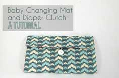 Baby Changing Mat/ Diaper Clutch Tutorial