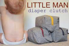 little man diaper clutch tutorial