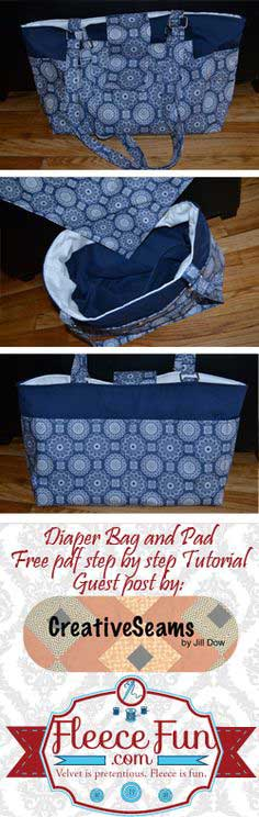 Diaper Bag Patterns - Over 100 Free Diaper Bag Patterns to Sew