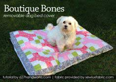 Boutique Bones Removable Dog Bed Cover