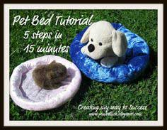 Pet Bed Tutorial - anyone can sew this in just 5 steps and 15 minutes!