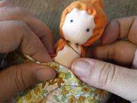 Tutorial: How to make a back to school Waldorf doll angel