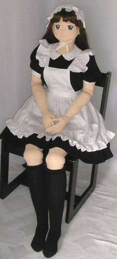 5 feet girl doll with big breast. She is a soubrette