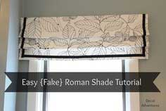 How to Sew a {Fake} Roman Shade