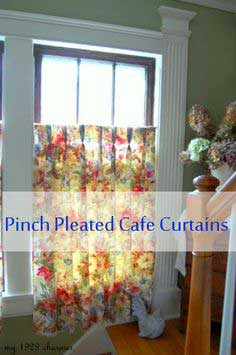 Tutorial: Pinch Pleated Cafe Curtains…