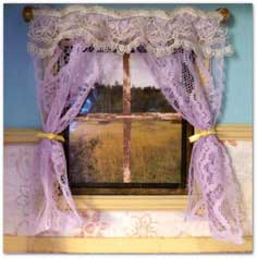 Craft Tutorial: Realistic DollhouseLace Curtains