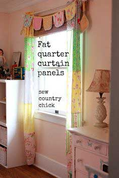 FAT QUARTER CURTAIN PANELS FOR A VINTAGE GIRLS ROOM