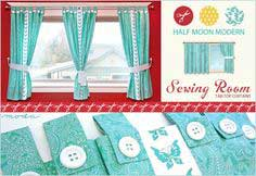 Moda's Half Moon Modern Sewing Room: Tab-Top Butterfly Curtains