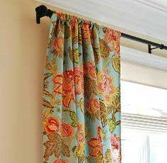 Tutorial: Rod Pocket Curtains with Liner