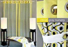 Michael Miller Fabrics' Citron-Gray Nursery: Panel Curtains with Grommets