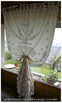 Unique Bohemian Curtain From Repurposed Vintage Lace