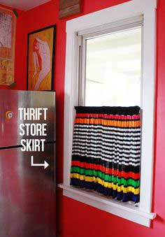 $1.50 CURTAIN SKIRT IN 3 MINUTES