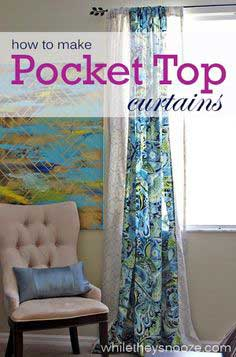 How to Make Pocket Top Curtains
