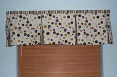 Quick and easy pleated window valance
