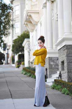LONG TIGHT KNIT MAXI DRESS TUTORIAL