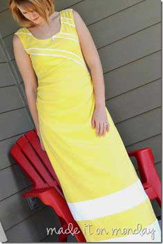 yellow tutorial- sunshine poured out maxi dress